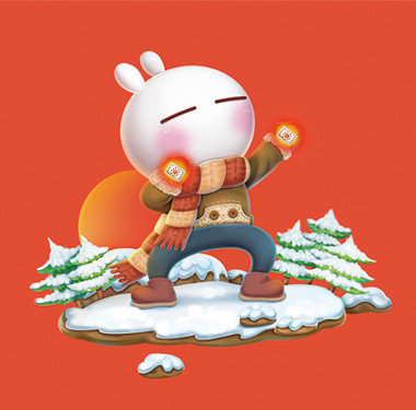 暖手宝行业-兔斯基形象包装设计