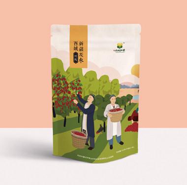 西域新疆灰枣包装设计