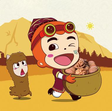 零食包装设计-核桃猴年卡通包装设计