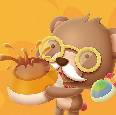 熊博士卡通形象包装设计