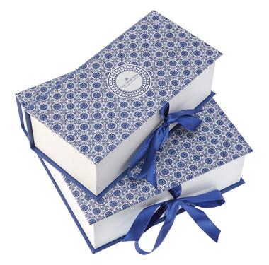 礼品盒包装设计-仿古青花花纹包装设计