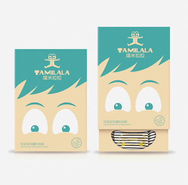 服装包装袋设计-塔米粒粒品牌包装设计