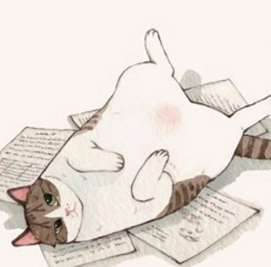 """生活插画""""来盘我-花猫""""插画设计"""