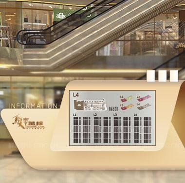 商场4L中金碧辉煌的导视设计