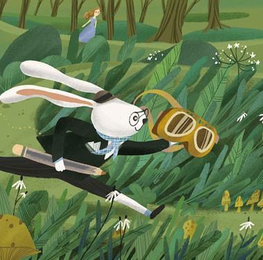"""剧场动画""""兔博士的探险""""动画设计"""