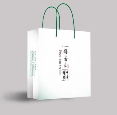 养生产品包装设计-锯齿山中华蜂蜜包装袋设计