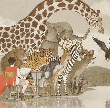 二次元设计-动物插画设计