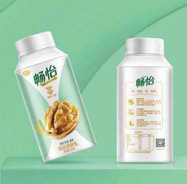 饮品-畅怡品牌核桃牛奶包装设计