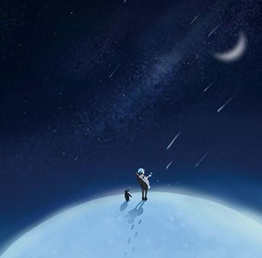"""漫画周边""""站在南极看星星""""插画设计"""