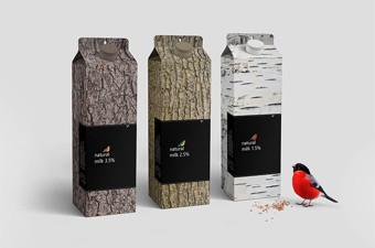 为爱变身的创意牛奶包装设计
